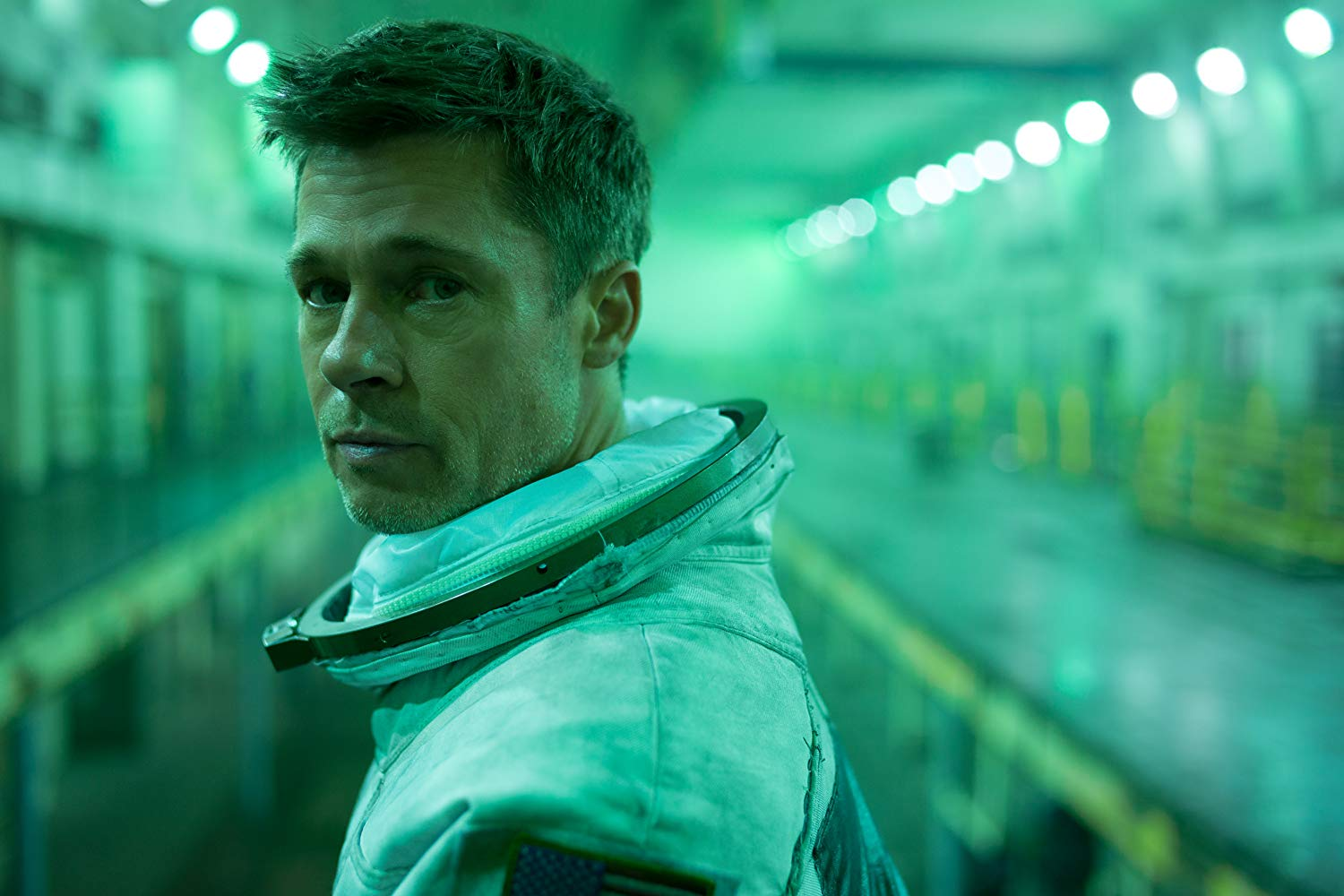 Brad Pitt, who plays Roy McBride, leads the audience on a self-reflective journey.