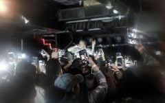 The crowd for Phora's show at Subterranean filled the room on Sept. 22 and held their iPhones up high, recording while cheering for the lead singer, Marco Anthony Archer.