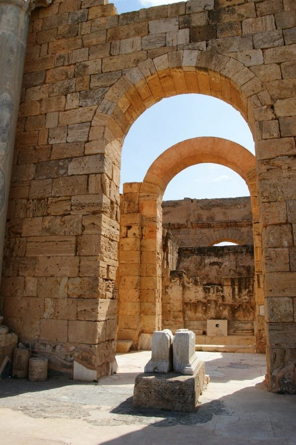 Leptis+Magna+offers+connections+to+Libya%E2%80%99s+ancient+times.+