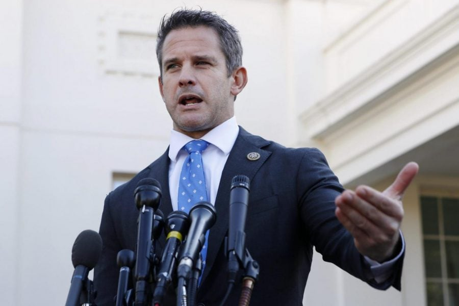 In+this+March+6%2C+2019+file+photo%2C+Rep.+Adam+Kinzinger%2C+R-Ill.%2C+speaks+to+the+media+at+the+White+House+in+Washington.+Kinzinger+is+slamming+as+%E2%80%9Cbeyond+repugnant%E2%80%9D+President+Donald+Trump%E2%80%99s+tweet+of+a+conservative+pastor%E2%80%99s+comment+that+removing+Trump+from+office+would+provoke+a+%E2%80%9Ccivil+war.%E2%80%9D