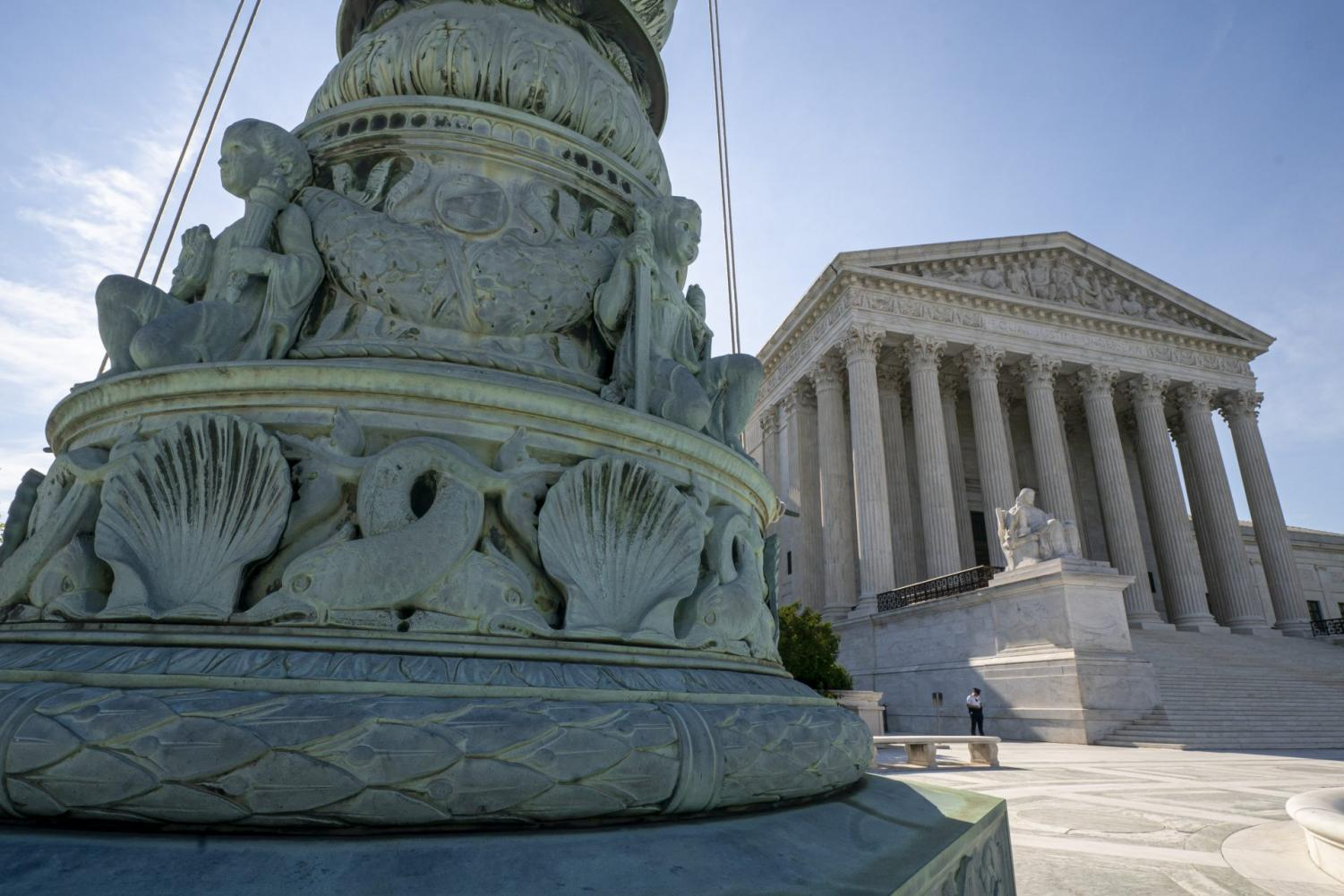 The Supreme Court is seen in Washington. Abortion rights, and protections for young immigrants and LGBT people top an election-year agenda for the Supreme Court. Its conservative majority will have ample opportunity to flex its muscle, testing Chief Justice John Roberts' attempts to keep the court clear of Washington partisan politics.