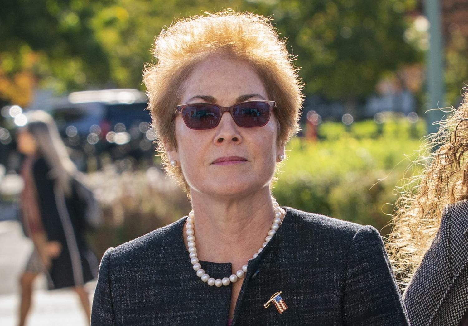 Former U.S. ambassador to Ukraine Marie Yovanovitch, arrives Capitol Hill, Oct. 11, 2019.