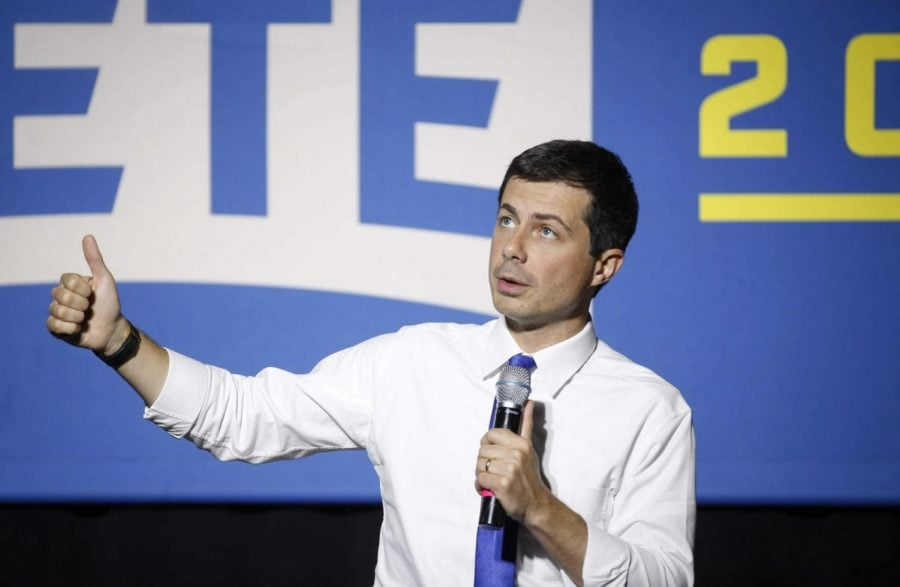 Democratic+presidential+candidate+Pete+Buttigieg+speaks+to+supporters+at+Iowa+State+University+during+a+town+hall+style+meeting+on+Wednesday%2C+Oct.+16%2C+2019%2C+in+Ames%2C+Iowa.