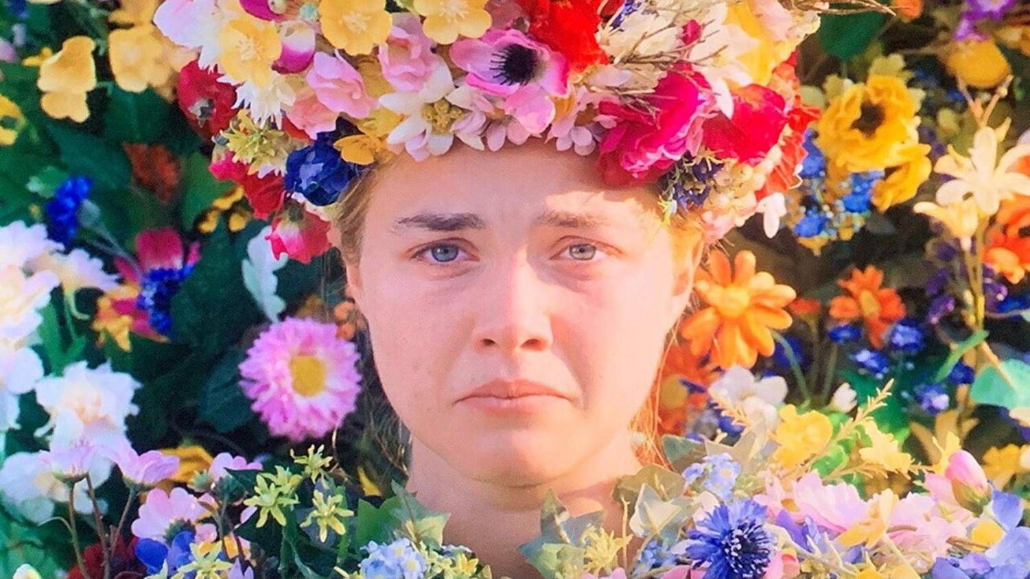 """Dani Ardor, played by Florence Pugh in """"Midsommar,"""" is finally the May queen.  Photo from IMDB"""
