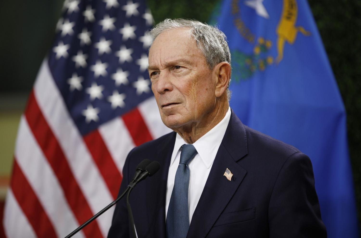 In this Feb. 26, 2019, file photo, former New York City Mayor Michael Bloomberg speaks at a news conference at a gun control advocacy event in Las Vegas. Tennessee's top election officials say Bloomberg has requested a petition that would require securing 2,500 signatures from registered voters in less than a month if he wants to qualify for the state's Democratic presidential primary ballot. The secretary of state's office confirmed Wednesday, Nov. 13, that Bloomberg requested the ballot petition earlier this week.