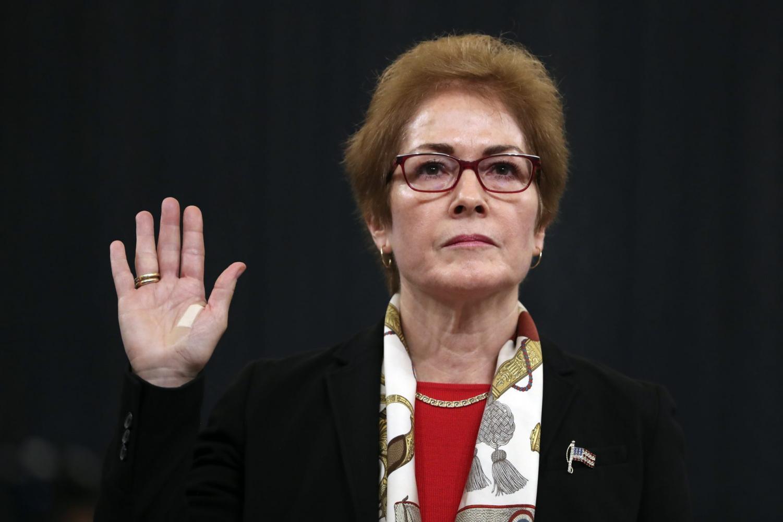 Former Ambassador to Ukraine Marie Yovanovitch testifies before Congress Friday, Nov. 15, 2019.