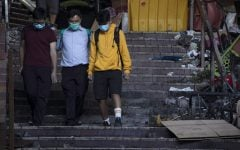 100 protesters still holed up in Hong Kong university