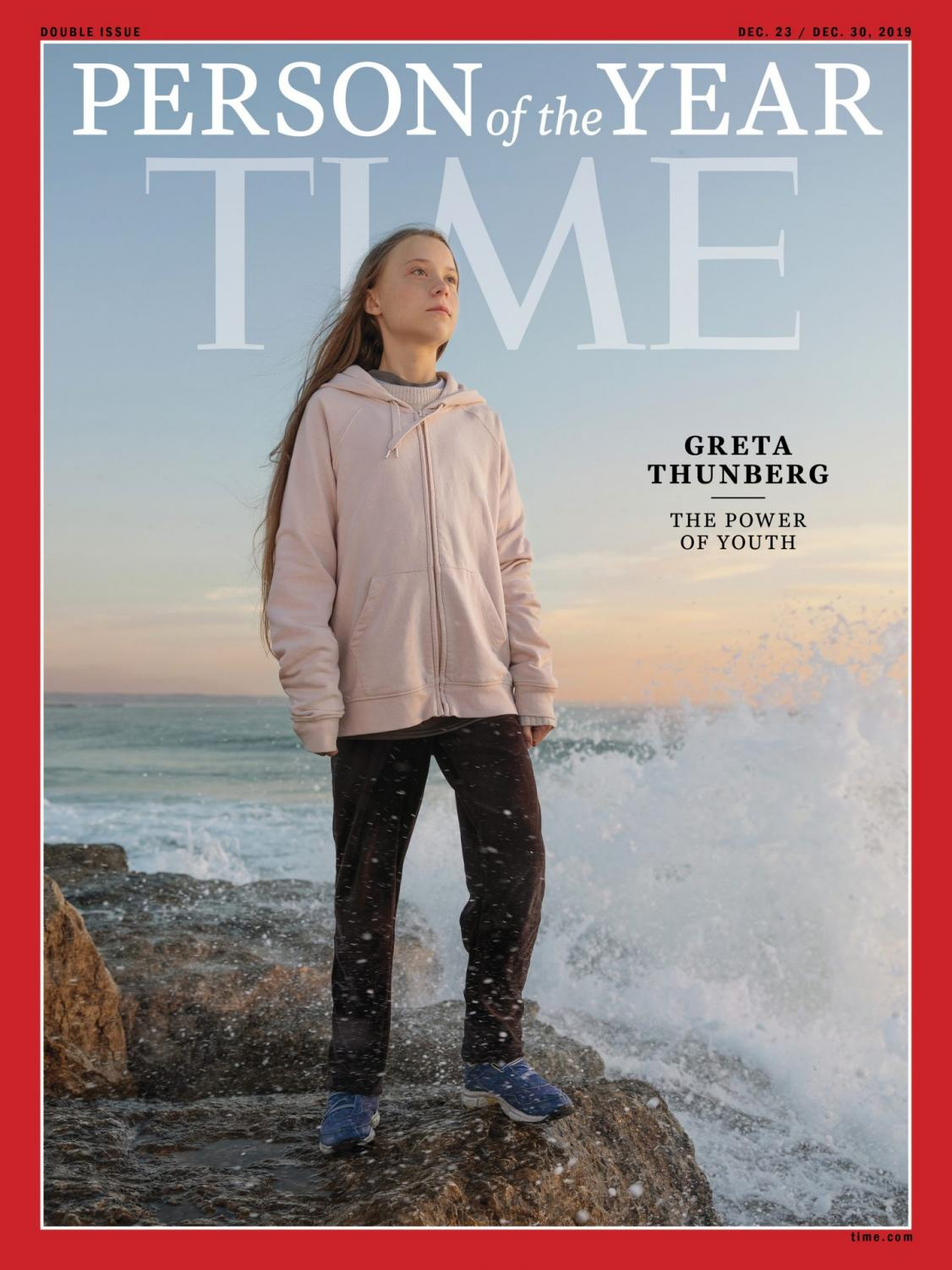 """This photo provided by Time magazine shows Greta Thunberg, who has been named Time's youngest """"person of the year"""" on Wednesday, Dec. 11, 2019. The media franchise said Wednesday on its website that Thunberg is being honored for work that transcends backgrounds and borders."""