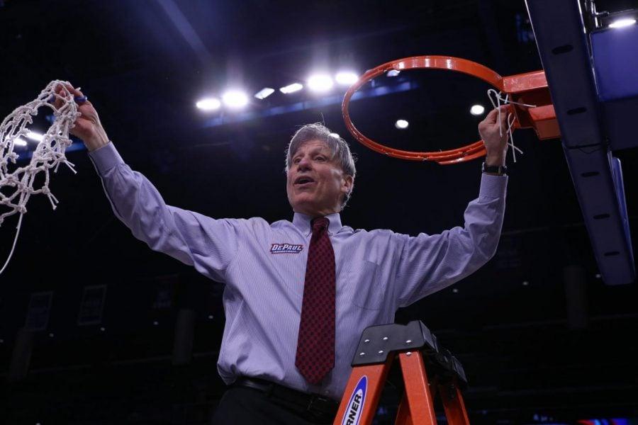 Doug+Bruno+celebrates+700th+win+as+head+coach+of+DePaul+women%27s+basketball