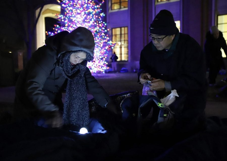 DePaul shows solidarity to people experiencing homelessness with 'Big Sleep Out'