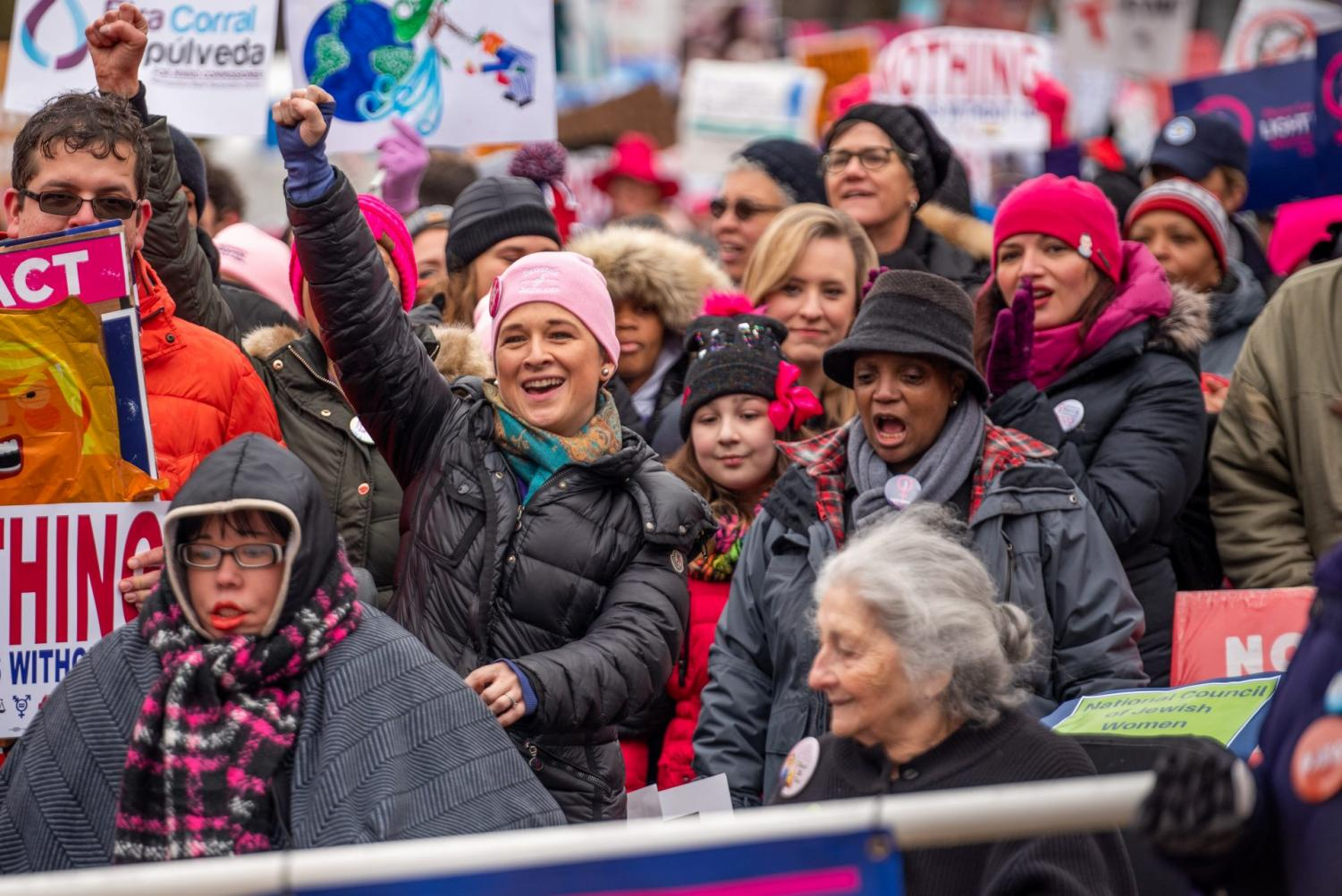 Illinois comptroller Susana Mendoza and Chicago Mayor Lori Lightfoot lead the annual Women's March Chicago.