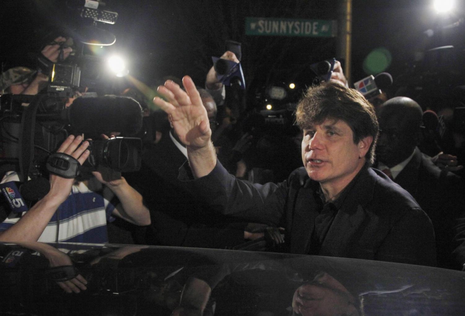 In this March 15, 2012 file photo, former Democratic Illinois Gov. Rod Blagojevich departs his Chicago home for Littleton, Colo., to begin his 14-year prison sentence on corruption charges. Blagojevich, authored, a column appearing on the conservative website Newsmax Jan. 1, 2020, arguing that Democrats in the U.S. House of Representatives would have tried to impeach former President Abraham Lincoln.