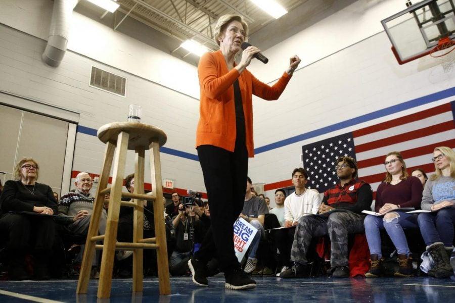 Democratic+presidential+candidate+Sen.+Elizabeth+Warren%2C+D-Mass.%2C+speaks+during+a+campaign+event%2C+Sunday%2C+Jan.+12%2C+2020%2C+in+Marshalltown%2C+Iowa.