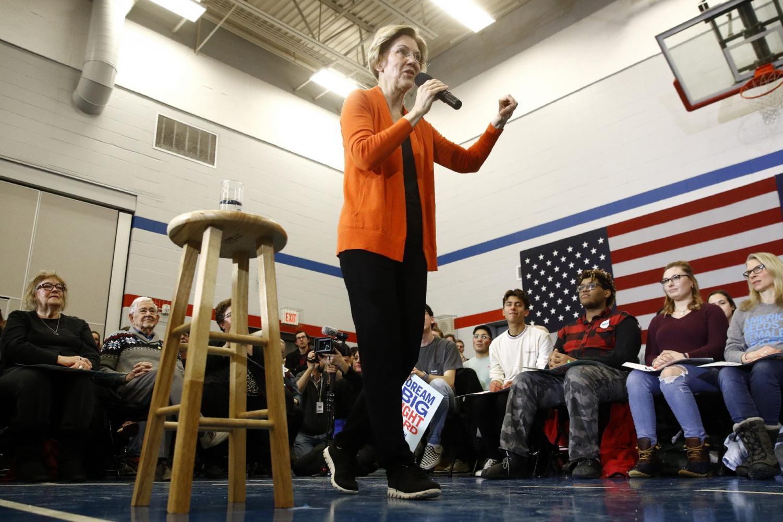 Democratic presidential candidate Sen. Elizabeth Warren, D-Mass., speaks during a campaign event, Sunday, Jan. 12, 2020, in Marshalltown, Iowa.