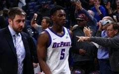 DePaul basketball teams on opposite end of tight games