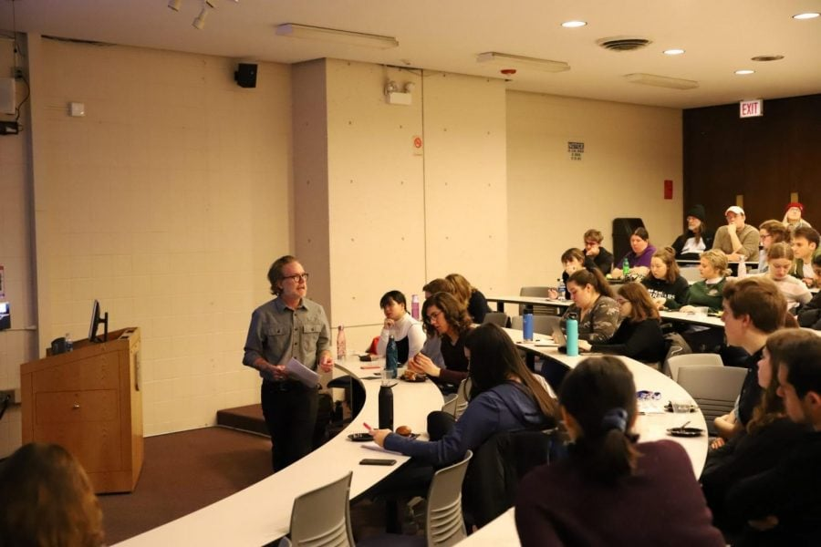 """It's not about getting people to stop,"" said DePaul sociology professor Greg Scott, who organized and gave the lecture on the narrative surrounding drug usage. ""It's about meeting people where they are."""