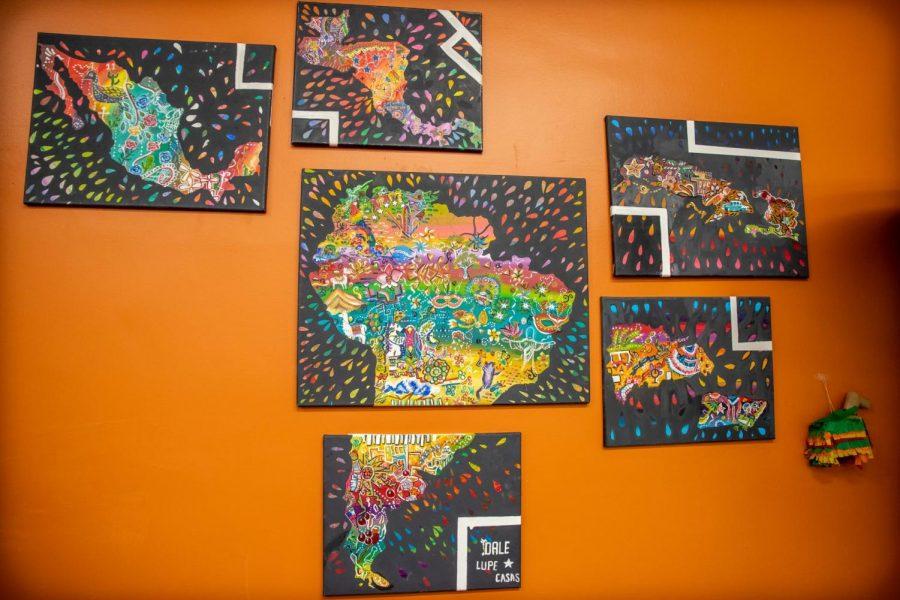 Organización estudiantil revela nuevo mural representando a países Latinoamericanos