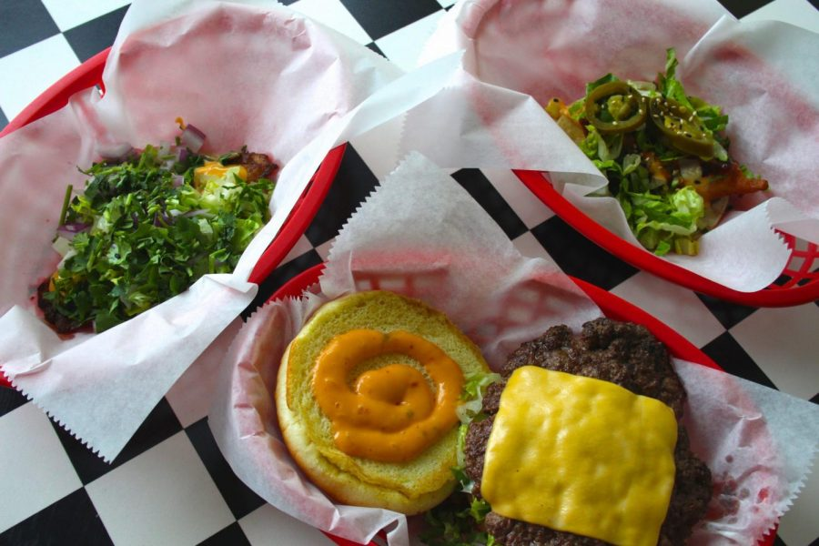Big & Little's offers menu items from burgers with a Greek twist to Hawaiian and Japanese-inspired tacos.