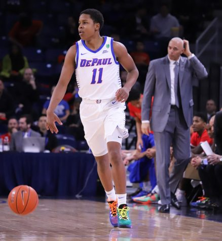 Junior Charlie Moore transferred to DePaul from Kansas last April.