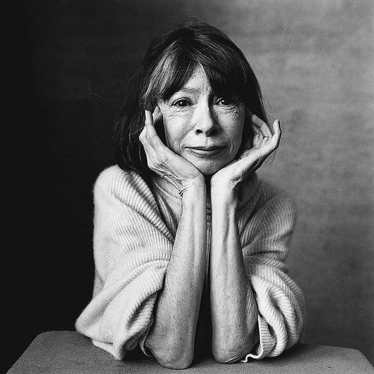 Joan Didion, the author of 'Play It as It Lays,' poses for a picture.