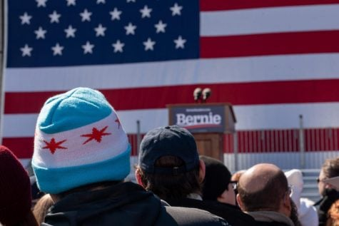 Bernie Sanders rally at Grant Park on March 7, 2020. Jonathan Aguilar | The DePaulia