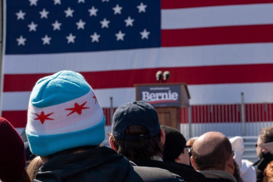 Bernie+Sanders+rally+at+Grant+Park+on+March+7%2C+2020.+Jonathan+Aguilar+%7C+The+DePaulia