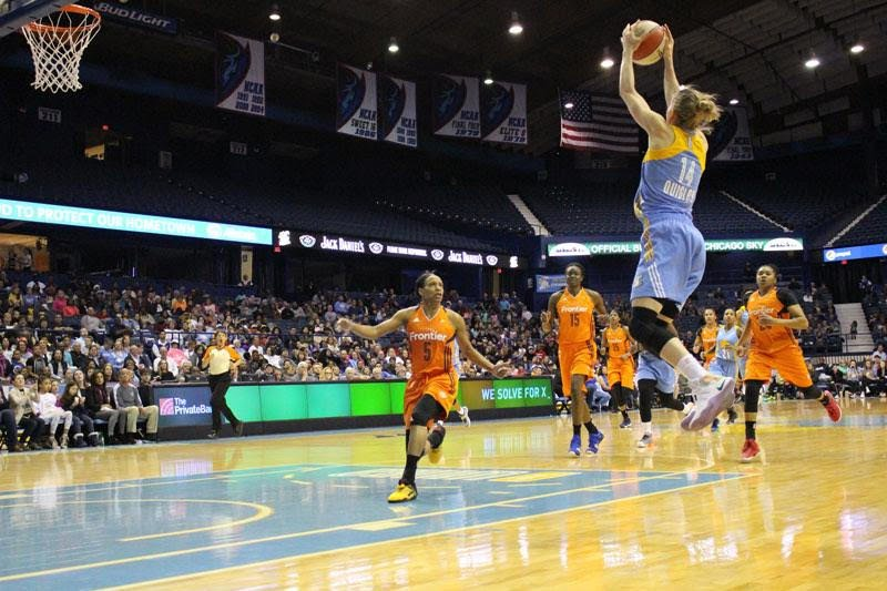 Allie Quigley, a former DePaul women's basketball player from 2004-08, signed a multi-year contract extension with the Chicago Sky on Feb. 19.