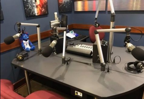 The studio for Radio DePaul Sports