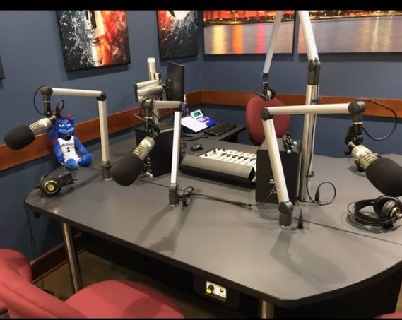 The studio for Radio DePaul Sports' office in the Loop campus.