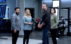 Rob Brown, Ashley Johnson, Sullivan Stapleton, Ennis Esmer, and Jaimie Alexander in Blindspot.