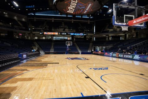 The inside of Wintrust Arena is seen after a DePaul basketball game on Tuesday, Oct. 29.