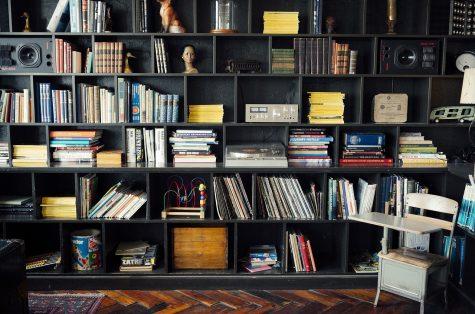 Jay Mantri's bookshelf.