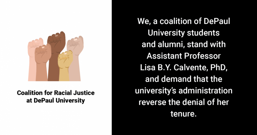Coalition for Racial Justice forms in light of Calvente tenure denial