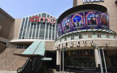 FILE - The currently closed AMC Burbank 16 movie theatres complex is pictured on April 29, 2020, in Burbank, Calif. After several false starts, the film industry is hoping to bring new releases back into movie theaters in late August. But for blockbusters, it may mean rethinking opening weekend and returning to a more gradual rollout through international and U.S. territories. Gone for now are the days of massive global openings. And theater owners say if they don't get new films soon, they may not make it to 2021. (AP Photo/Chris Pizzello, File)