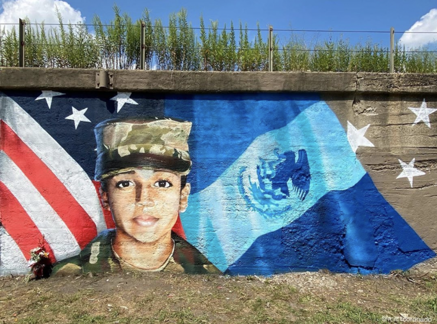Después de la indignación nacional por la desaparición y muerte de una joven soldado Vanessa Guillén, el artista Milton Coronado conmemora su memoria con un mural en Pilsen. @milt1coronado | Instagram