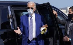 Democratic presidential candidate former Vice President Joe Biden, steps from his car as he arrives to board a plane at New Castle Airport, in New Castle, Del., Thursday, Sept. 3, 2020, en route to Kenosha, Wis. (AP Photo/Carolyn Kaster)