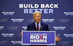 Democratic presidential candidate former Vice President Joe Biden speaks in Wilmington, Del., Friday Sept. 4, 2020. (AP Photo/Carolyn Kaster)