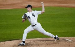 Chicago White Sox relief pitcher Garrett Crochet throws to a Chicago Cubs batter during the fifth inning of a baseball game in Chicago, Saturday, Sept. 26, 2020. (AP Photo/Nam Y. Huh)