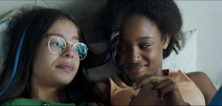 Medina El Aidi (left) and Fathia Youssouf (right) made their acting debut in the controversial French film