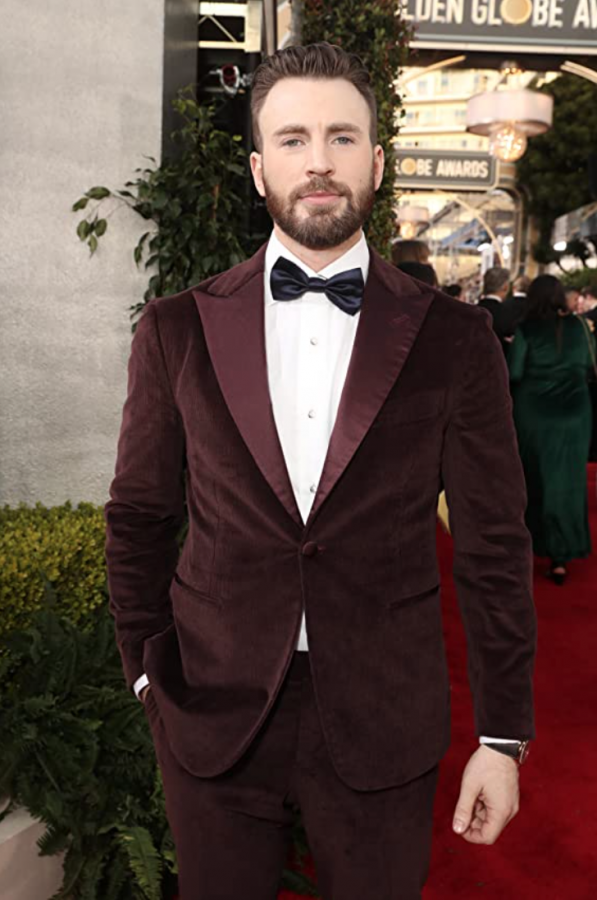 Chris Evans, photographed at the 2020 Golden Globe Awards.