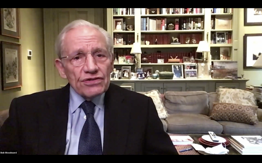 Investigative+journalist+Bob+Woodward+speaks+at+the+2020+IRE+Convention.
