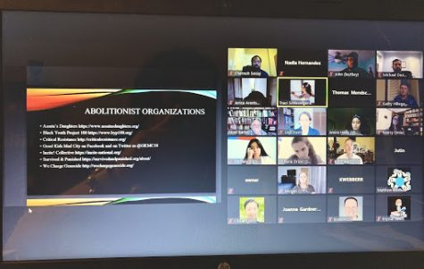 The Sept. 8 Racism Teach In featured various presentations from faculty members via Zoom.