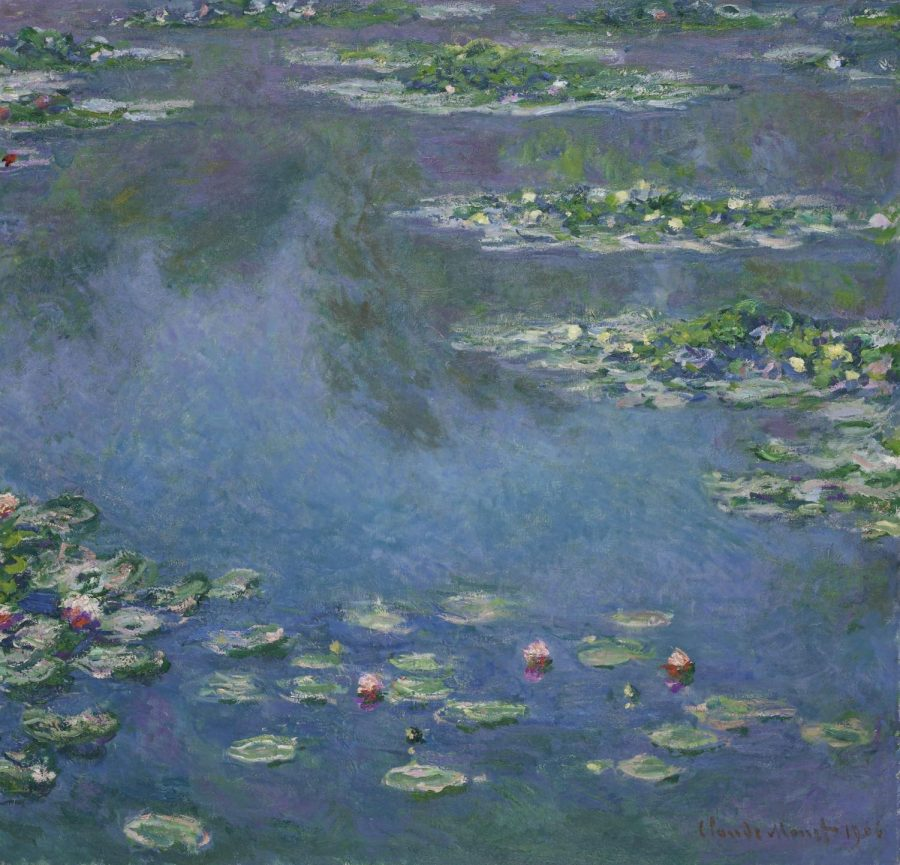 Monet's Water Lillies was finished in 1906 and is on display at the Art Institute.