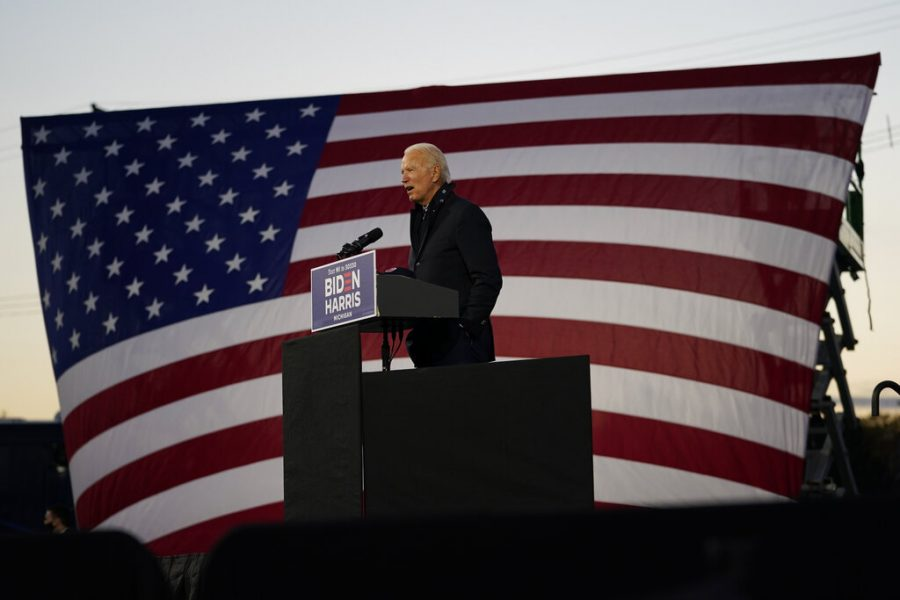 Democratic+presidential+candidate+former+Vice+President+Joe+Biden+speaks+at+Michigan+State+Fairgrounds+in+Novi%2C+Mich.%2C+Friday%2C+Oct.+16%2C+2020.+%28AP+Photo%2FCarolyn+Kaster%29