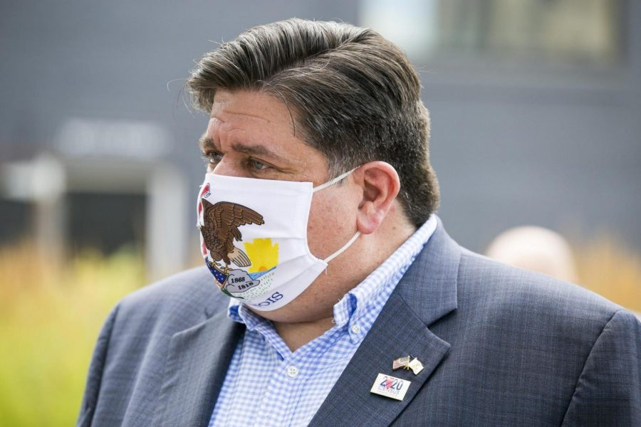 Illinois+Gov.+J.B.+Pritzker+has+taken+criticism+for+not+allowing+high+school+sports+to+take+place+in+the+fall+due+to+the+Covid-19+pandemic.+