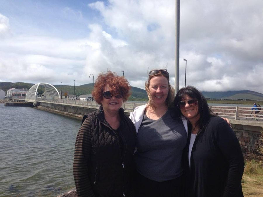 From left to right: Sue Ellbogen, Mary Gallagher and Cathy May on a trip to Achill in 2014.