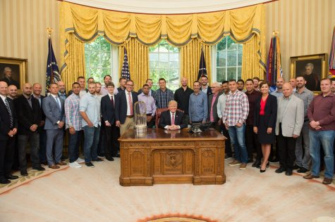 After winning the 2016 World Series, the Chicago Cubs went to the White House to visit President Donald Trump  — only months after visiting former President  Barack Obama.