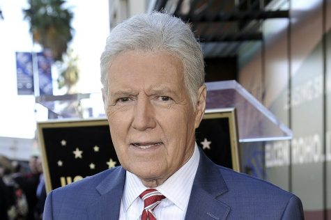 "Alex Trebek, host of ""Jeopardy!"" attends a ceremony honoring the show"