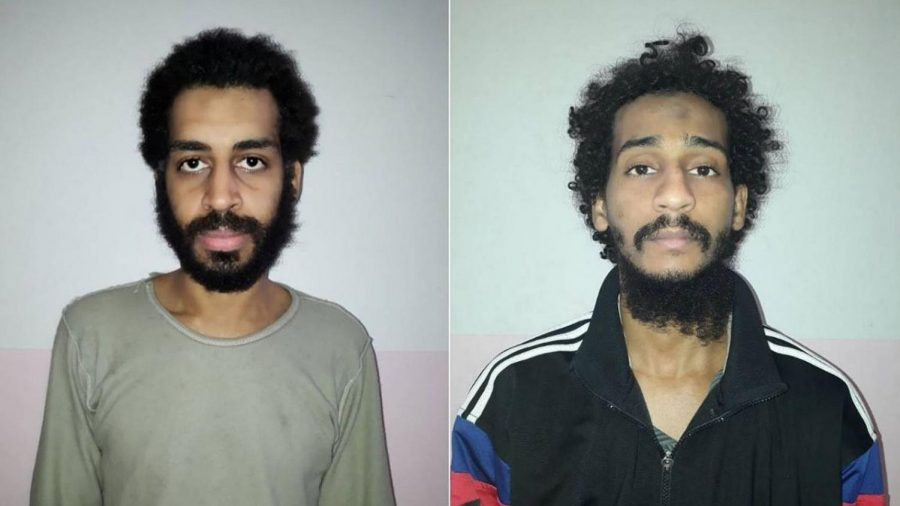 Alexanda+Kotey+and+El+Shafee+Elsheikh+were+indicted+or+their+involvement+with+the+Islamic+State+of+Iraq+and+the+Levant+%28ISIS%29%2C+including+suspected+involvement+in+the+death+of+four+Americans.