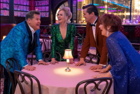 "James Corden, Meryl Streep, Nicole Kidman and Andrew Rannells star in ""The Prom."""